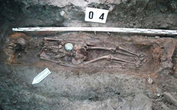 The remains of a 5ft 10 (1.80 m) female warrior have been unearthed in Mongolia. (Artur Kharinsky/The Siberian Times)