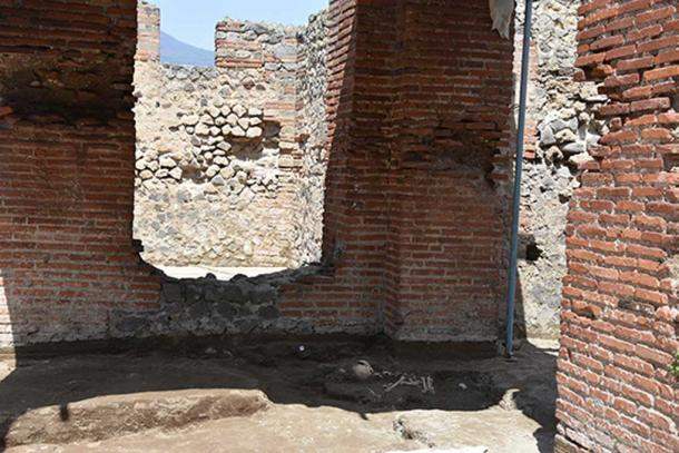 The remans of the child were found in one of the baths of the bath complex. Image: Parco Archeologico de Pompeii