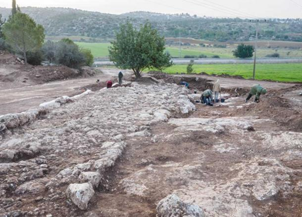 The road, possibly built for Roman Emperor Hadrian, ran for about 1.5 kilometers and was about 6 meters wide.