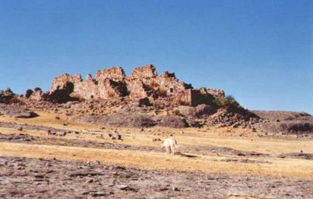 "The rock formation known as the ""Fortaleza,"" or fortress, at Marcahuasi."