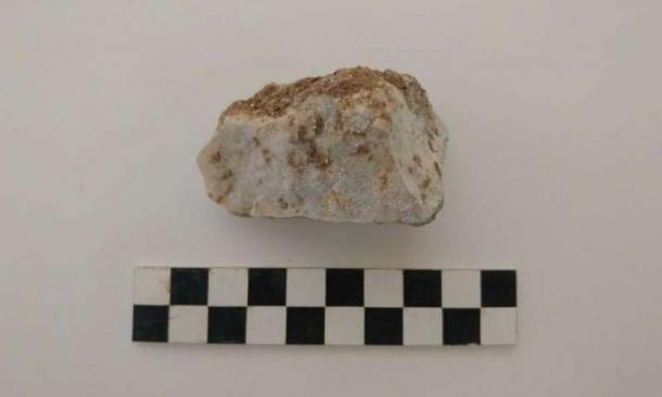 The rock that was found inserted into the child's mouth. (Photo courtesy of David Pickel/Stanford University)