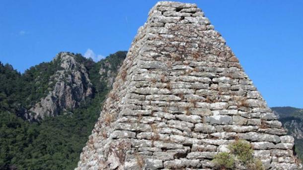 The rock tomb located on a hill outside Turgut village, Marmaris, Turkey. (Image: neoskosmos)