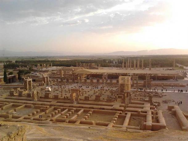 The ruins of Persepolis.