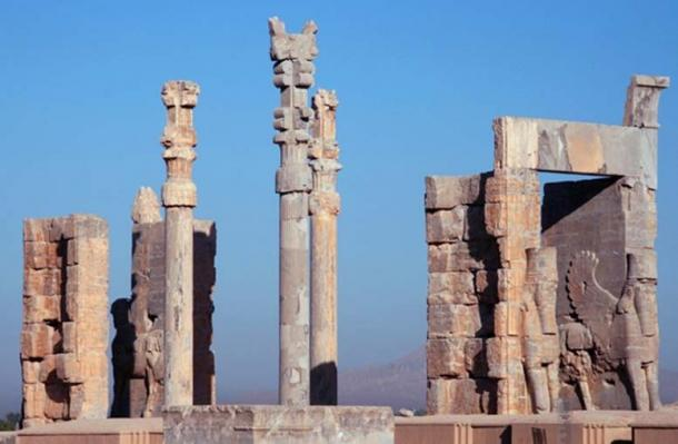 The ruins of the Gate of All Nations, Persepolis.