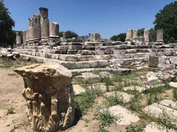 The ruins of the Lagina Hecate sanctuary on the sacred road. (Bilal Sogut / Facebook)