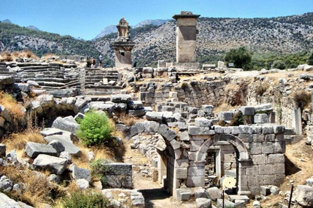 The ruins of the ancient city of Xanthos, Turkey.