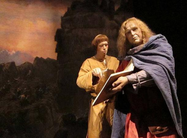 The saga museum contains figures like these which tell the history of early Iceland - the saga age.