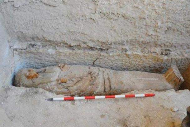 The sarcophagus in situ. Credit: Ministry of Antiquities, Egypt.