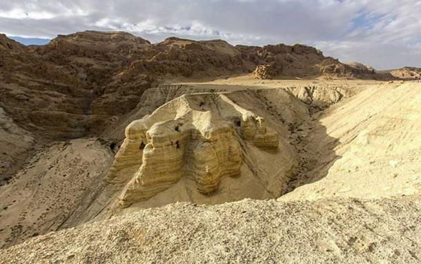 The scrolls were found in caves on the northwest shore of the Dead Sea, located at Khirbet Qumran in what was what was then British Mandate Palestine – now known as West Bank.