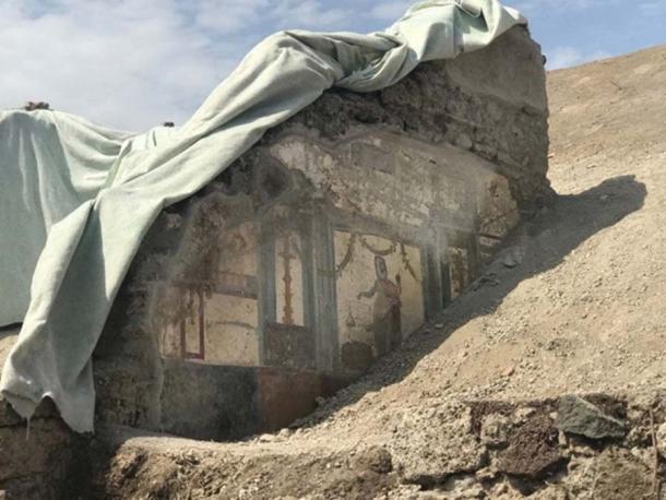 The second Priapus fresco has been found in the House of the Vettii. (Image: La Repubblica)