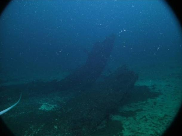 The shipwreck in Lake Michigan, which is claimed to be the Griffin.