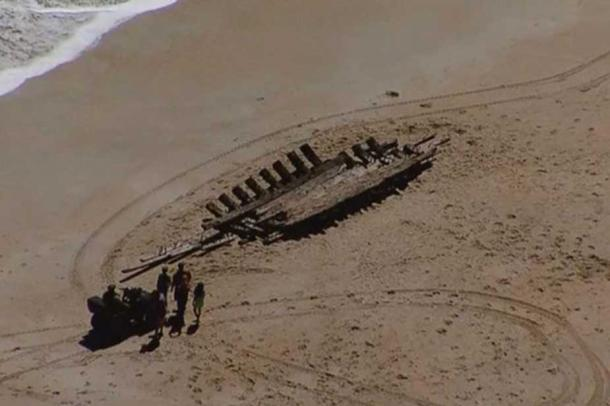 The shipwreck is thought to date to the 18th century. People fear it will not last long on the beach.