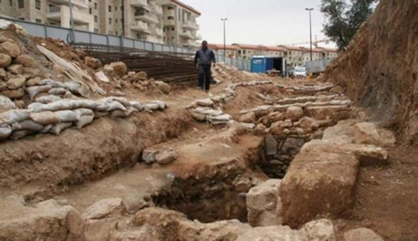 The site where the earliest-ever inscription bearing Jerusalem's full name was discovered. Image: Yuli Schwartz / IAA