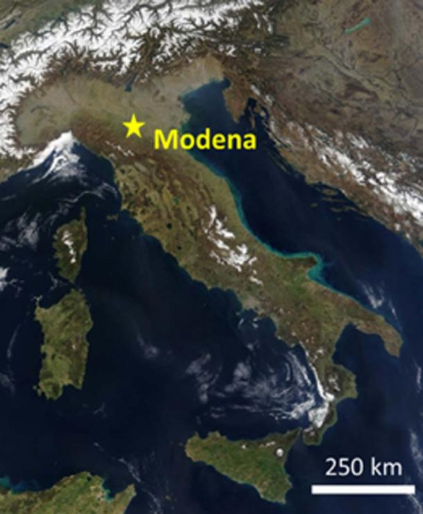 The skeletons were discovered in Modena, Italy. (Nature)