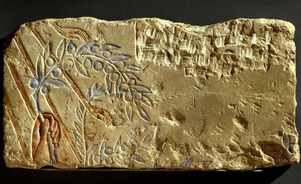 In this fragment, King Akhenaten offers an olive branch to the Aten. The slender, almost sensuous hand appears to be caressed by the hands of the sun's rays. Amarna Period. Hermopolis (Ashmunein; Khemenu). Metropolitan Museum of Art, New York. (Public Domain)