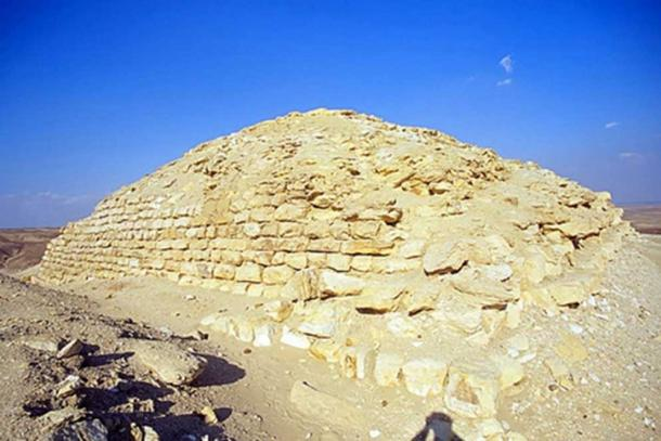 The small pyramid that dates to around 2,500 BC, the same era as the Great Pyramid of Giza. Courtesy of BYU Excavations.