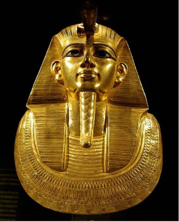 The solid gold death mask of Psusennes