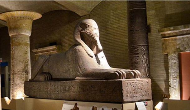 The sphinx previously located in Egypt Gallery at Penn Museum. (Penn Museum)