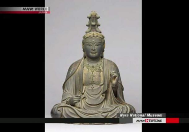 The statuette of the Bodhisattva, Nara National Museum (Image: NHK Newsline Screenshot)