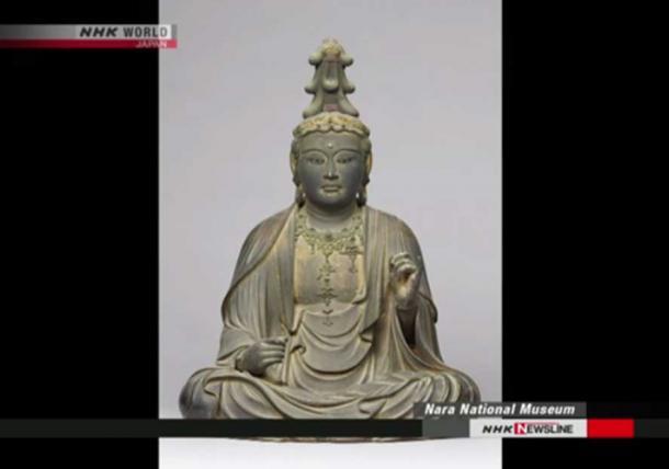 The statuette of the Bodhisattva, Nara National Museum (Image: NHK Newsline Screenshot)