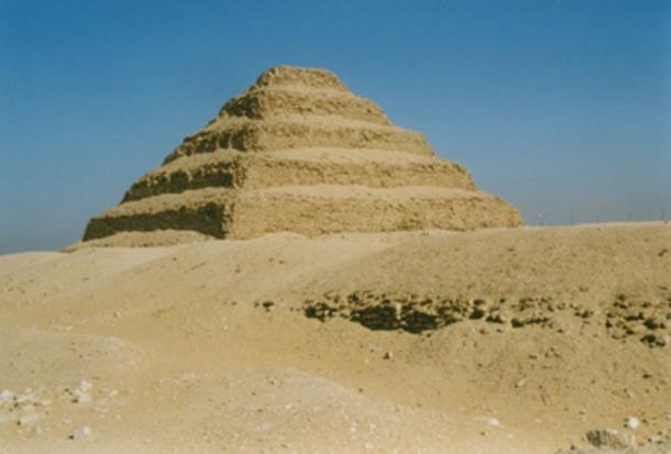 The step pyramid of the Pharaoh Djoser at Saqqara is said to have been constructed by the architect Imhotep. (Magnus Manske / CC BY 2.0)