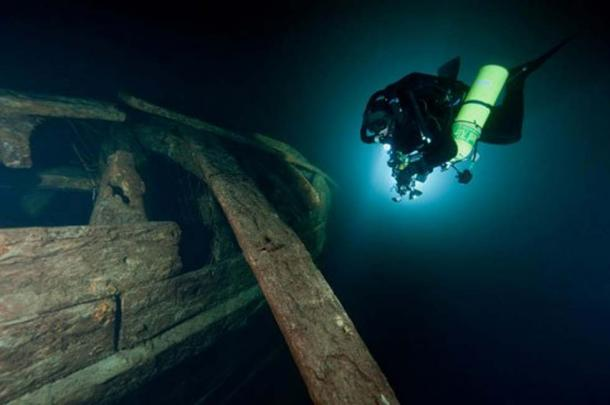 The stern section of the Mars' wreck.