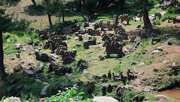 The stone statues discovered in the Himalayas vary from one to four riders and each appears uniquely decorated (Image: Science First Hand)