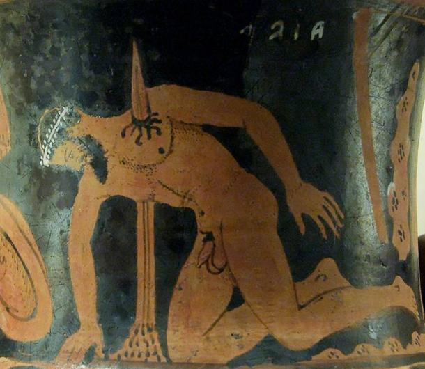 The suicide of Ajax the Great. Etrurian red-figured calyx-krater, ca. 400–350 BC