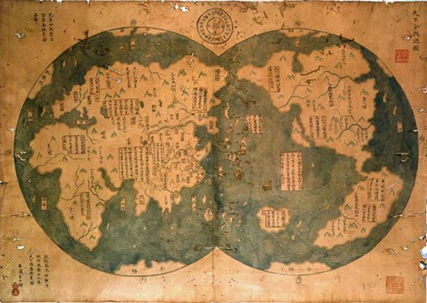 The supposed map from 1418 showing some of the Americas.