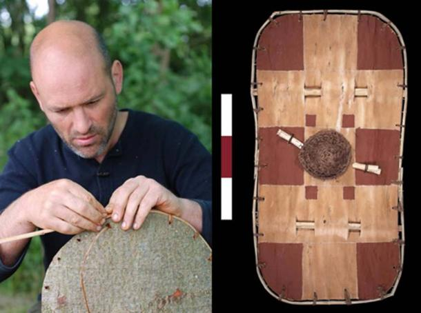 The team created copies of the bark shield. (University of Leicester / Fair Use)