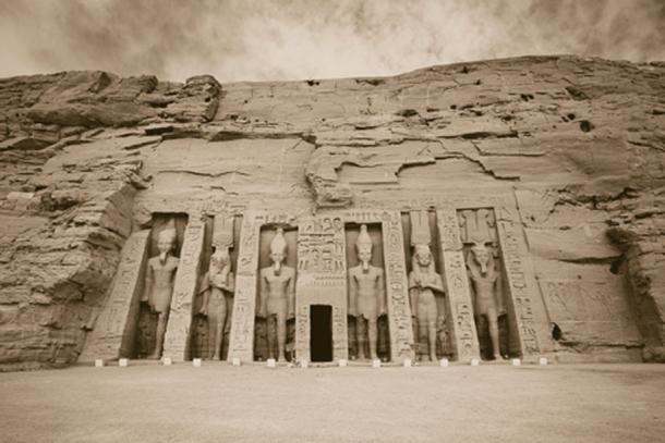 The temple of Hathor and Nefertari, also known as the Small Temple, at Abu Simbel. (CC BY-SA 2.0)