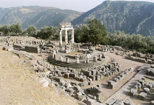 The tholos at the Delphi archaeological site, Phocis, Greece.