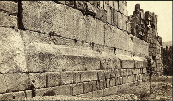 The three hewn stones known as the 'trilithon' which lay in the base of the Jupiter Baal Temple ruins each weigh an estimated 800 tons. (Author provided)