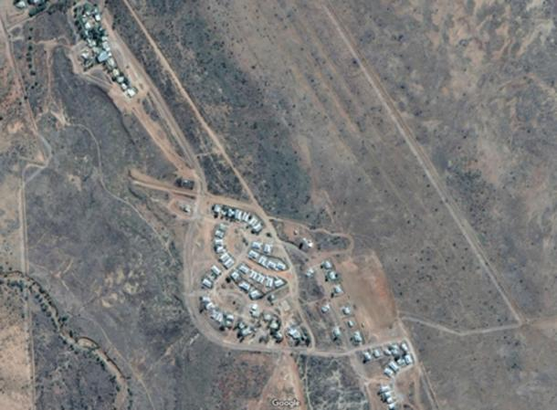 The tiny community of Wangkatjungka, situated 100km south-east of Fitzroy Crossing in Western Australia's Kimberley region and is made up of 180 permanent residents. Credit: Google Maps