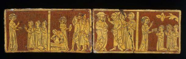 The two Tring Tiles at the Victoria and Albert Museum. (Victoria and Albert Museum)