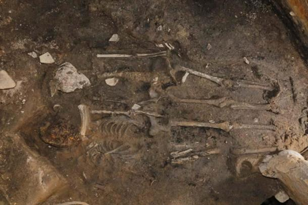 The two skeletons that were recently found in Gyeongju, South Korea.