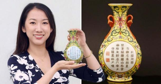 The vase which was bought from a charity shop for £1 could sell for £80,000 (Picture: Sworders /BNPS)