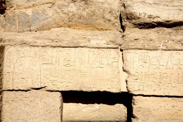 The walls of the tomb are coved in hieroglyphs, the writing system of ancient Egypt. (Egyptian Ministry of Antiquities)