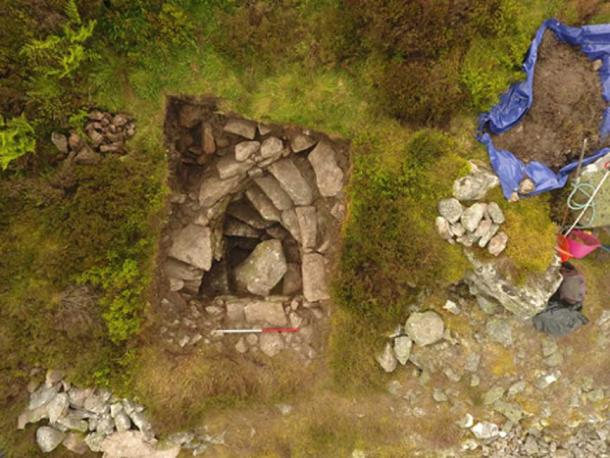 The well had been blocked with a big rock by a Victorian farmer.  (Northern Picts /University of Aberdeen)