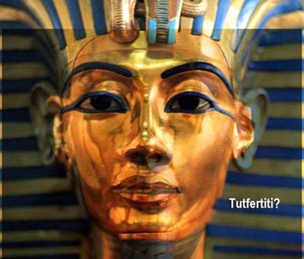 The world is on the edge of their seats to find out if the latest round of hi-tech scans by a team of Italian experts in the tomb of Tutankhamun will finally help solve the riddle of Nefertiti's burial. Superimposed image of Nefertiti's bust on Tutankhamun's mask. (Photo: Roy Lester Pond)
