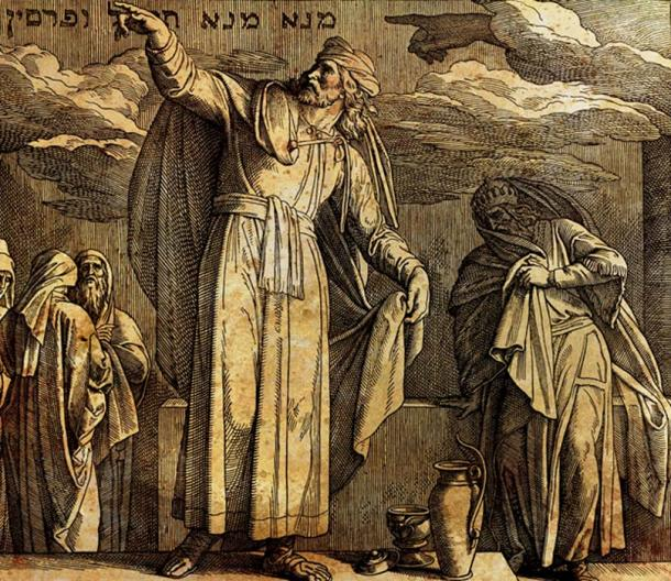 The writing on the wall, Daniel and king Belshazzar, the fall of Babylon bible story. (fluenta / Adobe)
