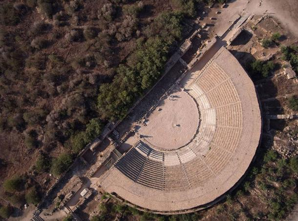 Theater of Salamis, aerial view.