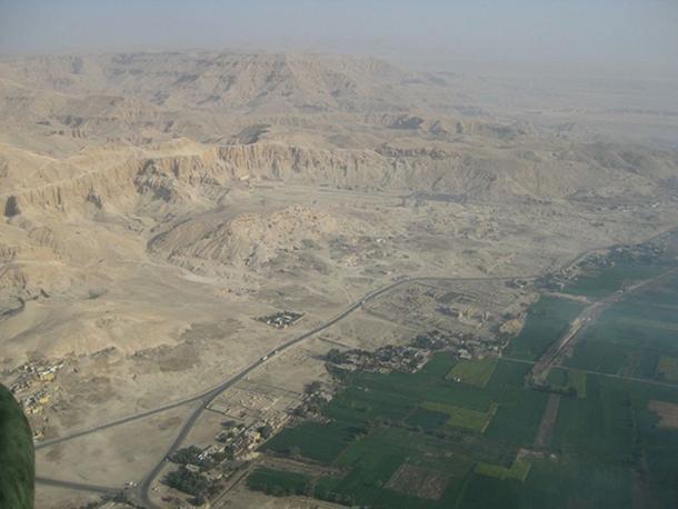 Aerial view Theban Necropolis.