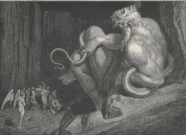 'There Minos stands' – Canto V, line 4. (Public Domain) Gustave Doré's illustration of King Minos for Dante Alighieri's 'Inferno.'