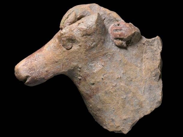 There was a hand found on the mane of the discovery that is dated to the Kingdom of Israel, which would demonstrate that it was sculpted with a rider. (Clara Amit, IAA)