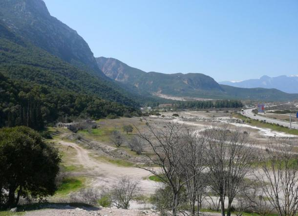 Thermopylae pass in Greece where the epic battle took place