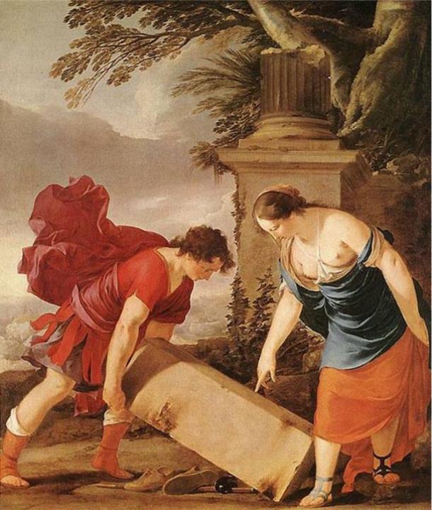 Theseus and Aethra by Laurent de la Hyre