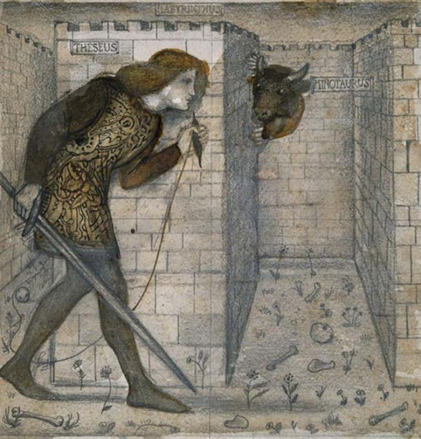 'Theseus and the Minotaur in the Labyrinth' by Edward Burne-Jones