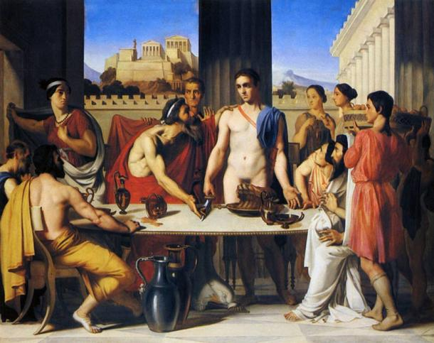Theseus recognized by his father by Jean-Hippolyte Flandrin