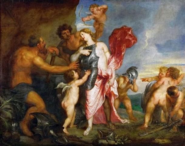 'Thetis Receiving the Weapons of Achilles from Hephaestus' by Anthony van Dyck. (Public Domain)